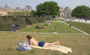 Jardin des Tuileries, hier.