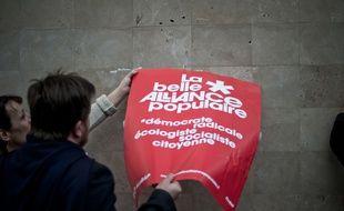 Illustration de l'affiche La belle alliance populaire, le 13 avril 2016 à Paris.