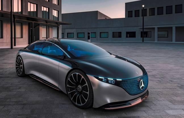 Mercedes Vision EQS, avec ses lignes futuristes