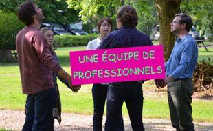 Image extraite de la publicité du gîte des Lepic («Fais pas ci, fais pas ça»).