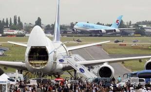 Un Airbus A380 au salon du Bourget le 21 juin 2011.