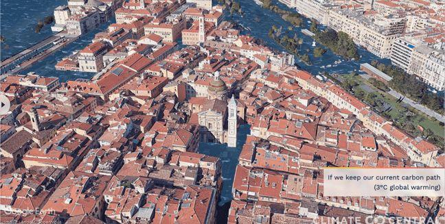 La coulée verte et le Vieux-Nice seront sous l'eau si le réchauffement climatique atteint 3°C supplémentaires