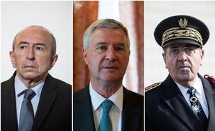 Gérard Collomb, Patrick Strzoda et Michel Delpuech, trois hommes clés dans l'affaire Benalla.
