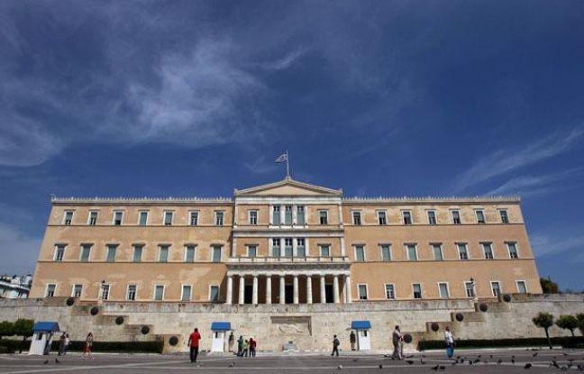 Le parlement grec à Athènes, le 7 mai