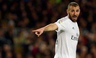 Karim Benzema, l'attaquant du Real Madrid, le 2 avril 2016, à Barcelone.