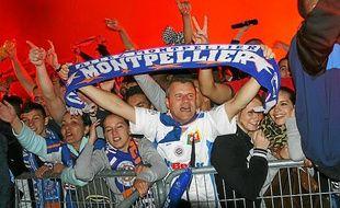 Les supporters de Montpellier plébiscitent l'entraîneur gardois.