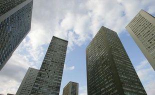 Photo d'immeubles prise le 19 avril 2006 dans le 13e arrondissement de Paris.