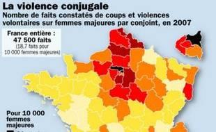 La violence conjugale en France en 2007.