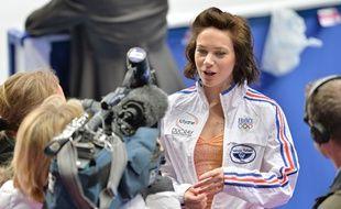 La patineuse Nathalie Péchalat en mars 2014.