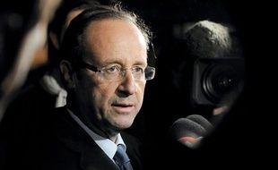 François Hollande, le 1er avril, en déplacement à Boulogne-sur-Mer.