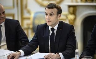 Emmanuel Macron rencontre les associations d'éducation populaire, le 25 février 2020 à l'Elysée.