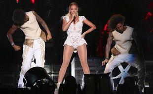Beyoncé au Stade Morumbi, à São Paulo, au Brésil, le 15 septembre 2013.