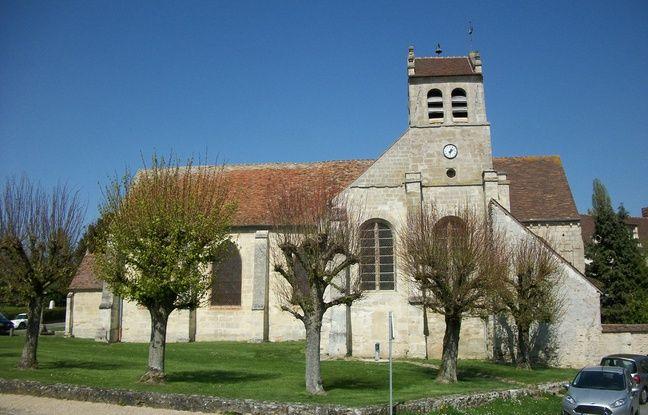 L'église de Wy-dit-Joli-Village dans le Val-d'Oise.
