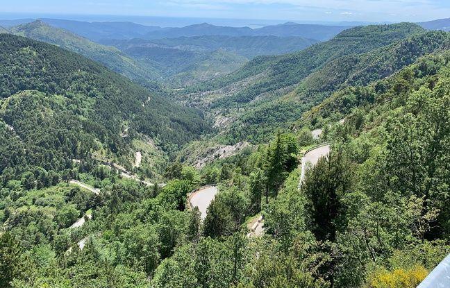 Le Col de Turini (Alpes-Maritimes), étape de montagne du Tour de France 2020.