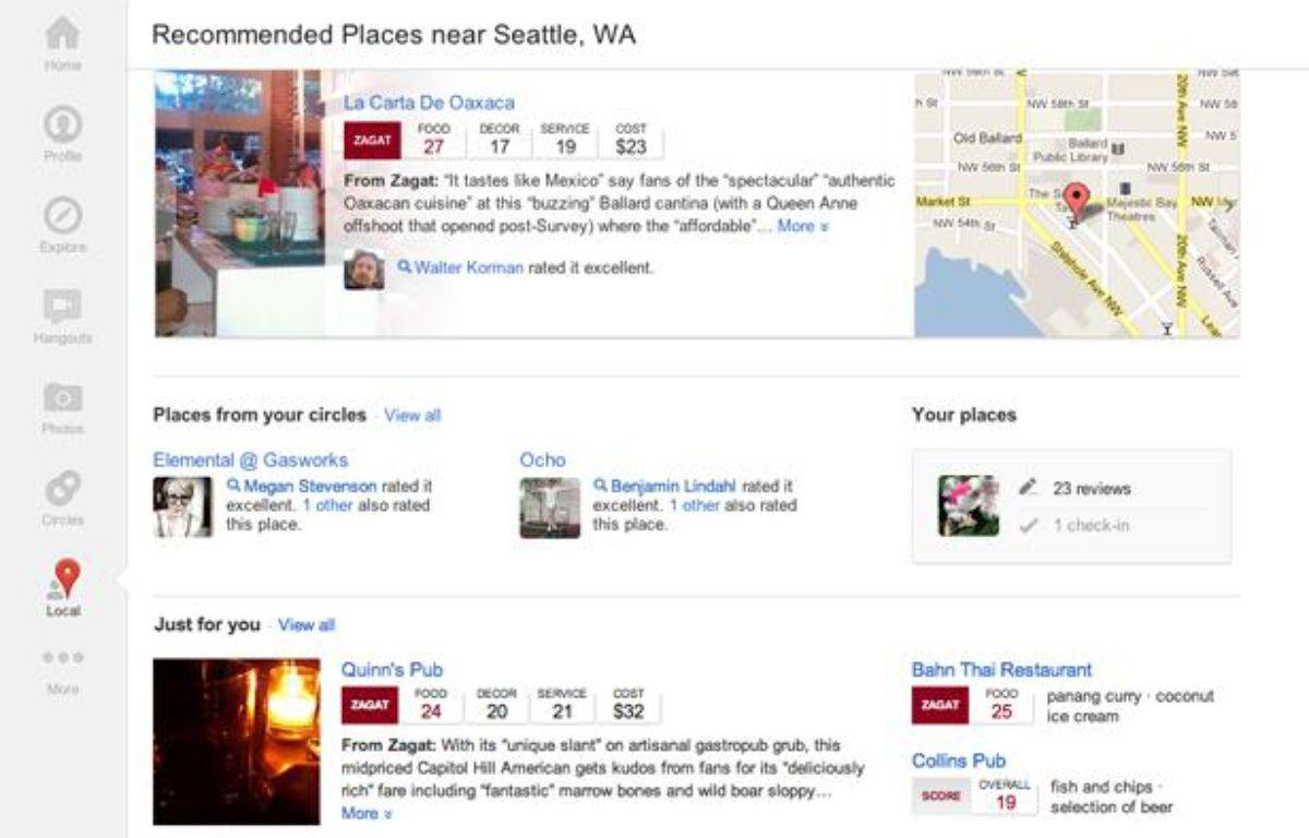 L'interface de Google+ Social. – GOOGLE