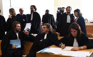 Les avocats des différents prévenus, dont les frères Ahamada, dans l'affaire du trafic de la cité des lauriers.