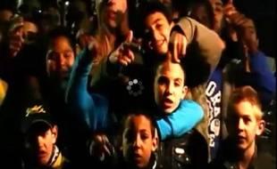 Capture d'écran d'un clip de rap à la gloire des footballeurs de Chambéry.