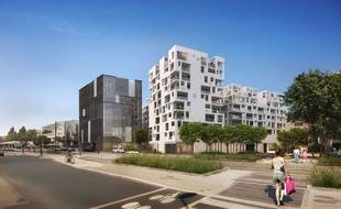 Le futur îlot, idéalement placé entre le boulevard des Martyrs nantais et le boulevard Vincent-Gâche, se composera de plusieurs bâtiments.