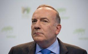 Pierre Gattaz, patron du Medef, le 17 novembre 2015 au siège du Medef à Paris.