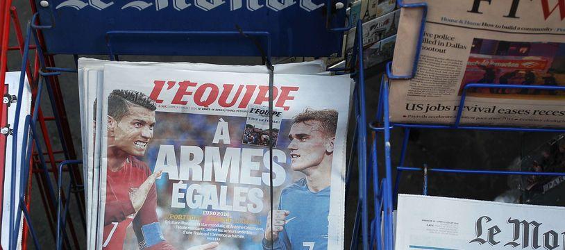 """Les salariés de """"L'Equipe"""" ont appelé à la grève ce vendredi."""