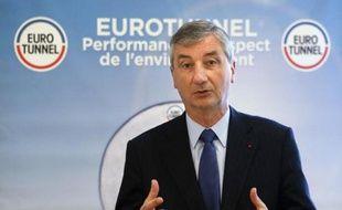 Jacques Gounon, PDG de la société Eurotunnel, le 13 mars 2014 à Paris