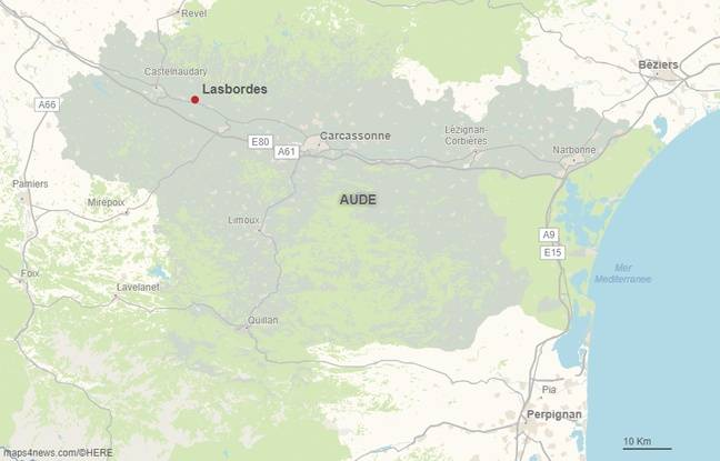 La commune de Lasbordes dans l'Aude.