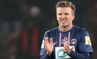 David Beckham avec le PSG, le 27 février 2013.