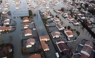 Des quartiers entiers de la Faute-sur-Mer sont encore sous les eaux, le 1er mars.
