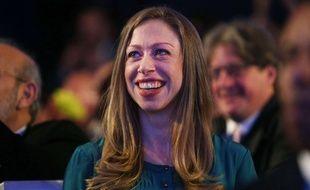 Chelsea Clinton lors d'un discours de Barack Obama, le 23 septembre 2014 à New York.