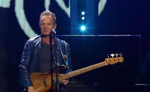 Sting en concert à Las Vegas, le 24 septembre 2016.