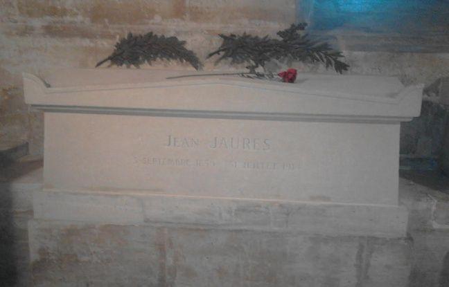 La tombe de Jean Jaurès au Panthéon