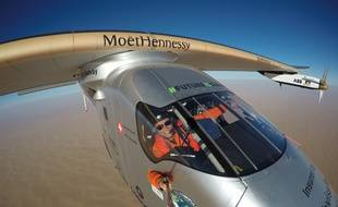 Bertrand Piccard, à bord du Solar Impulse 2.