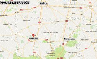 La ville de Beauvais dans l'Oise.