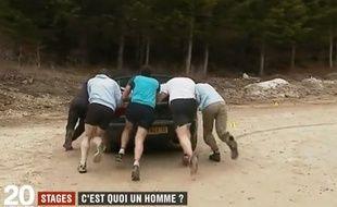 Capture d'écran du reportage diffusé sur France 2 sur la virilité