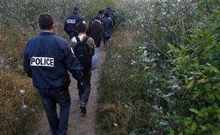 Illustration d'une évacuation de migrants