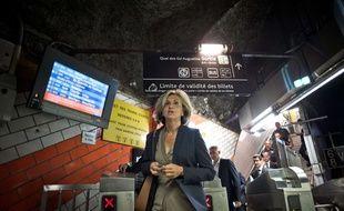 La présidente LR de la région Ile-de-France, Valérie Pécresse,lance le 5 mars sa campagne de lutte contre le harcèlement sexuel dans les transports en commun.