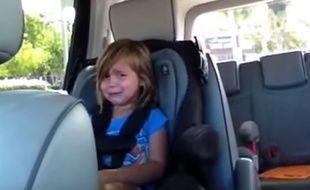 La petite fille a éclaté en sanglots en apprenant que le leader des Maroon 5 s'était marié.