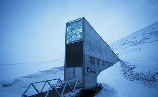 La réserve mondiale de semences (Global Seed Vault) photographiée le 2 mars 2016 sur l'archipel de du Svalbard (Norvège) dans l'Arctique.