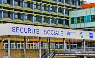 Immeuble de la Caisse d'assurance maladie ou Sécurite Sociale, Le Mans Sarthe, 26 Fevrier 2017;