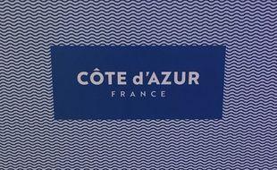 Une déclinaison du nouveau logo Côte d'Azur France.