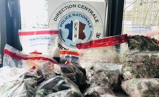 La police de Bordeaux a notamment saisi 16 kilos de cannabis.