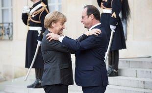 Angela Merkel et François Hollande, le 11 janvier 2015 à Paris.
