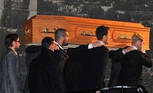 La messe privée de la famille de Stephen Gately, chanteur de Boyzone, vendredi 16octobre, à Dublin.