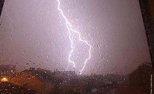 Photo des orages à Nancy envoyée par un internaute de «20 Minutes», le 22 mai 2012.