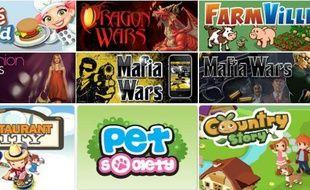 Quelques uns des jeux sociaux les plus populaires