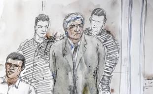 Wojciech Janowski lors de son procès pour la mort d'Hélène Pastor