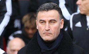 Christophe Galtier a révélé lundi qu'il ne s'appuierait pas sur une défense à cinq pour la demi-finale de Coupe de France au Parc des Princes. Pierre Minier/Ouest Media/SIPA