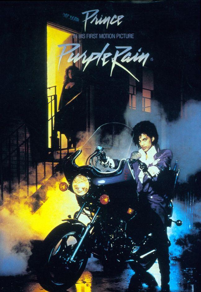 L'affiche du film Purple Rain, sorti en 1984.