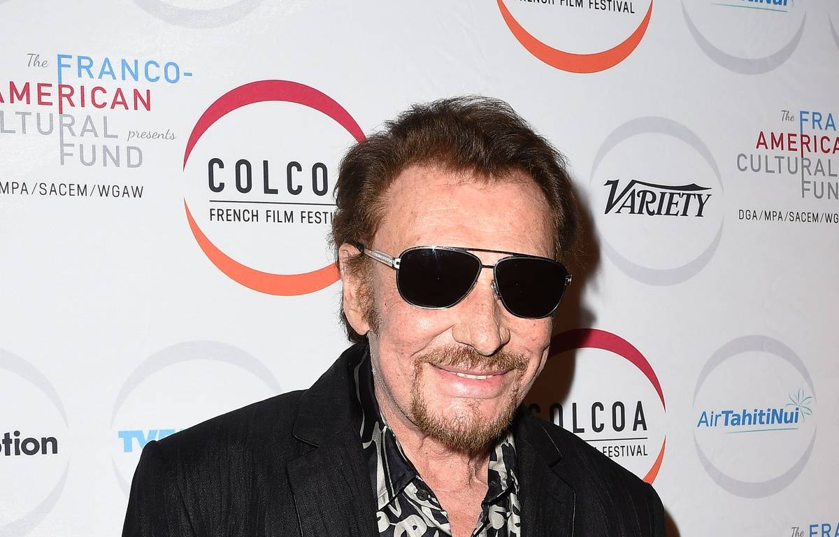 Johnny Hallyday  à la cérémonie d'ouverture du Colcoa French Film Festival, le 24 avril 2017 à Los Angeles. – Robyn BECK / AFP