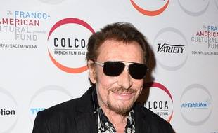 Johnny Hallyday  à la cérémonie d'ouverture du Colcoa French Film Festival, le 24 avril 2017 à Los Angeles.